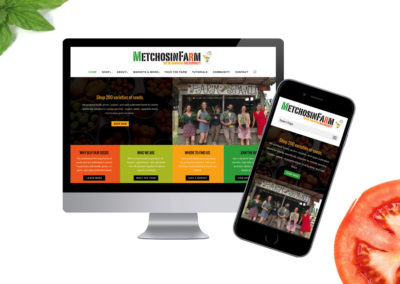 Metchosin Farms. Website Design & Development.