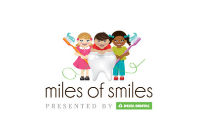 Delta Dental Miles of Smiles Campaign. Logo Design.